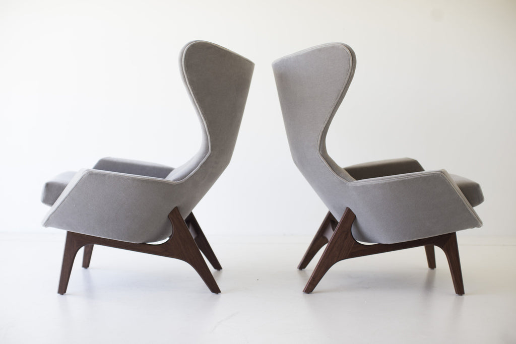 Craft Associates Modern Arm Chairs   In Mohair
