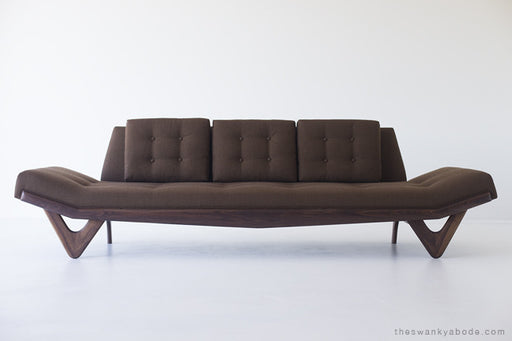 Craft Associates® Modern Sofa - 1403 - The Alaska in Brown Wool