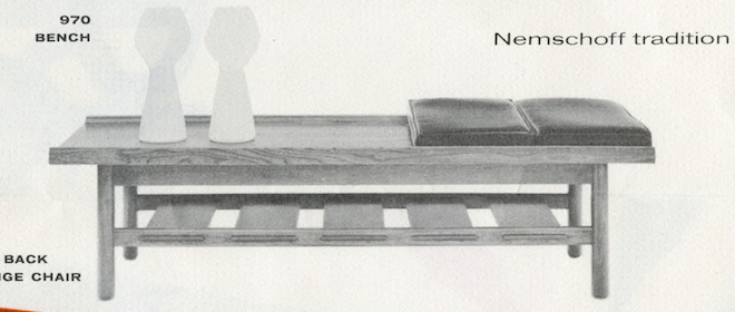 Lawrence Peabody Bench Model 970 for Nemschoff: The Peabody Collection