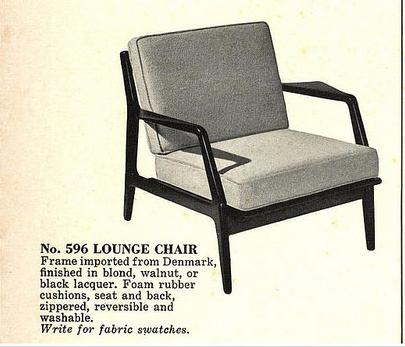 Lawrence Peabody Danish Line Lounge Chair, Model 596 for Selig