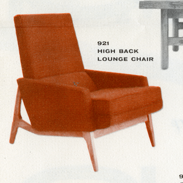 Lawrence Peabody High Back Lounge Chair Model 921 for Nemschoff: The Peabody Collection