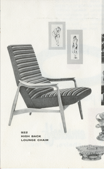 Lawrence Peabody High Back Lounge Chair Model 922 for Nemschoff: The Peabody Collection