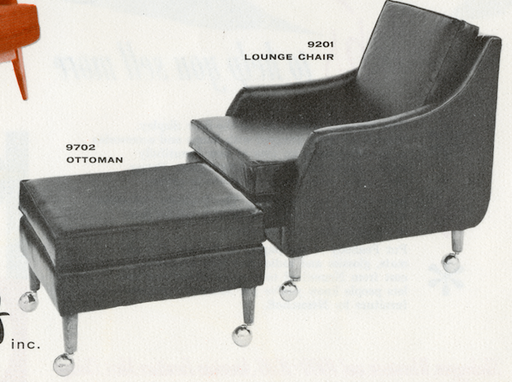 Lawrence Peabody Lounge Chair Model 9201 / Ottoman 9702 for Nemschoff: The Peabody Collection