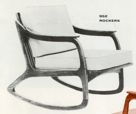 Lawrence Peabody Rocking Chair Model 952 for Nemschoff: The Peabody Collection