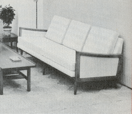 Lawrence Peabody Sofa Model 9332 for Nemschoff: The Peabody Collection