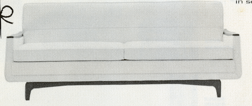 Lawrence Peabody Sofa Model 9801 for Nemschoff: The Peabody Collection