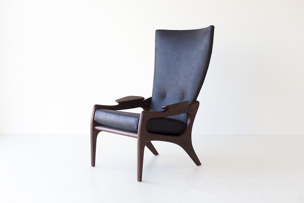 Modern Arm Chair in an Oil Finished Leather