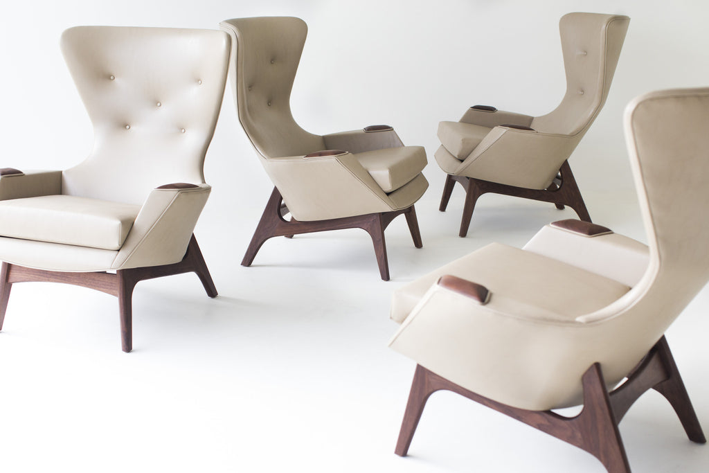 Modern Arm Chairs   Low Wing In Vinyl