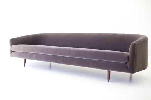 Modern Sofa - 1408 - The Cloud - In Brown Mohair