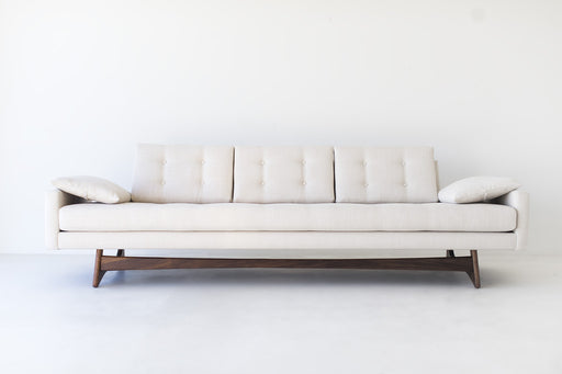 Modern Sofa - 1401 - In a Thick Weave Polyester and Teak!