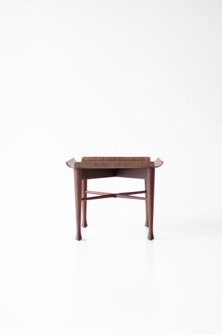 Lawrence Peabody Walnut Side Table - 2007 - Craft Associates Furniture