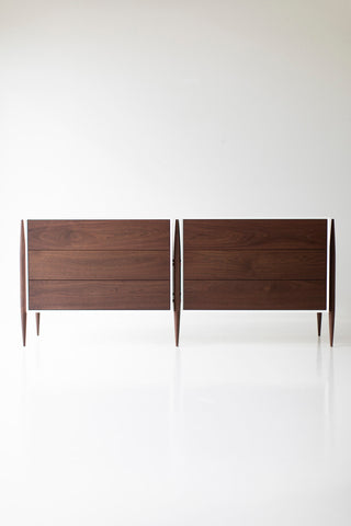 Modern Walnut Dresser - 2004 - Craft Associates Furniture