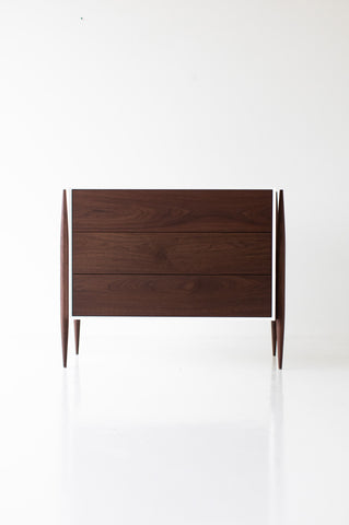 Small Modern Walnut Dresser - 2006 - Craft Associates Furniture