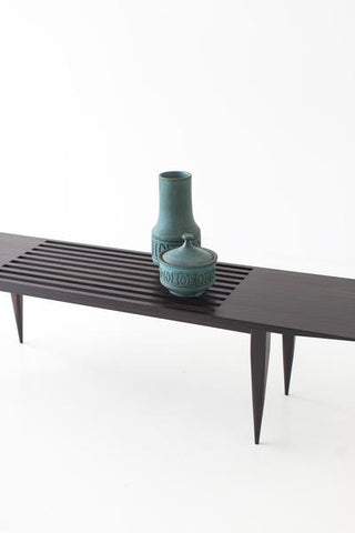 Modern Slatted Bench - 1602 - J Bench - Craft Associates® Furniture