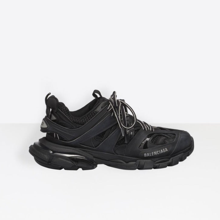 Balenciaga black Leather track 2 sneakers MODES com