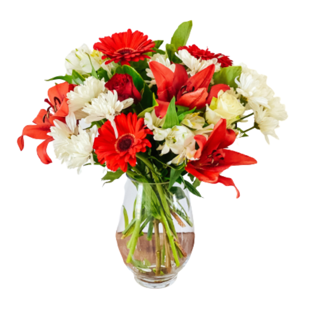 Large Red & White Florist Design