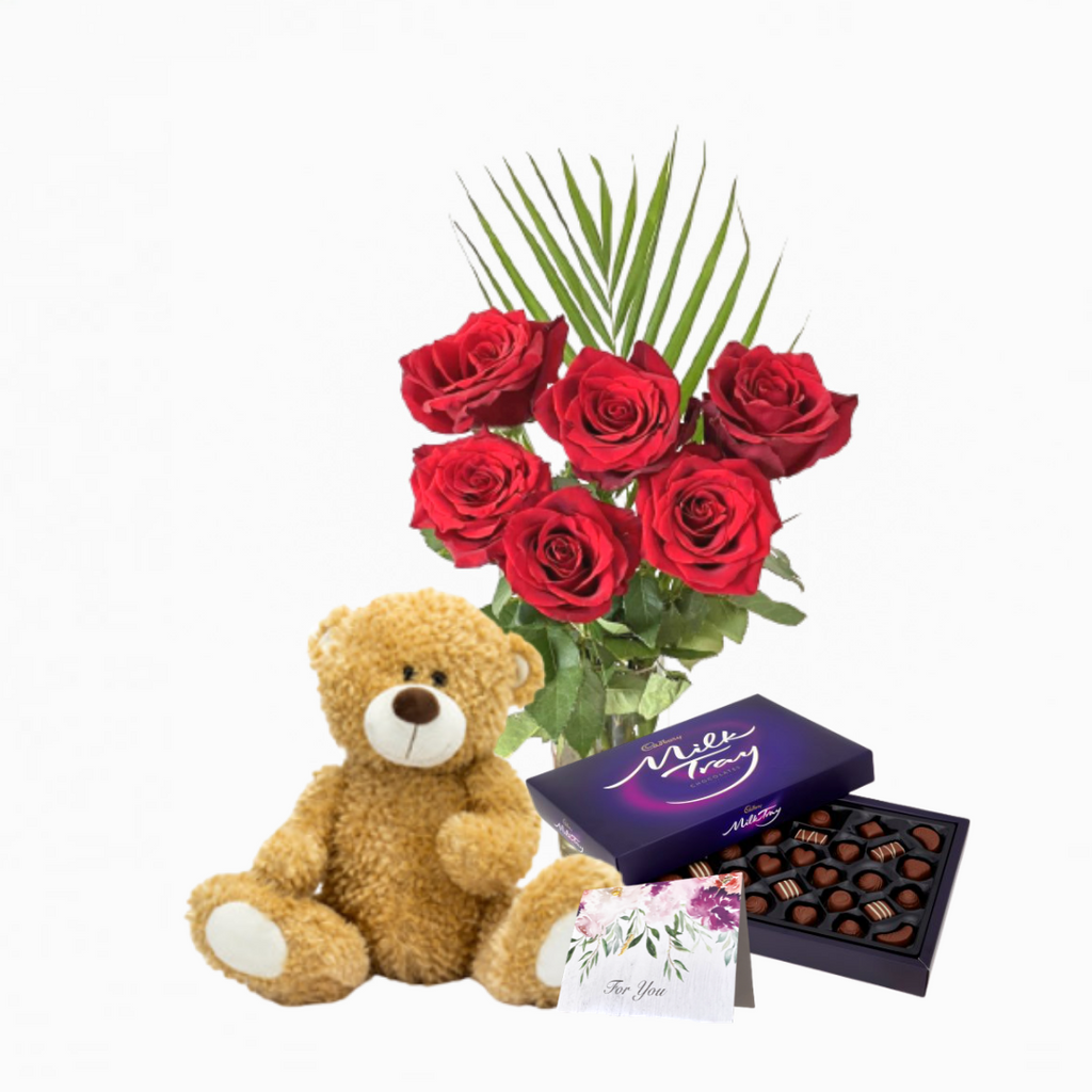6 Red Roses Bundle