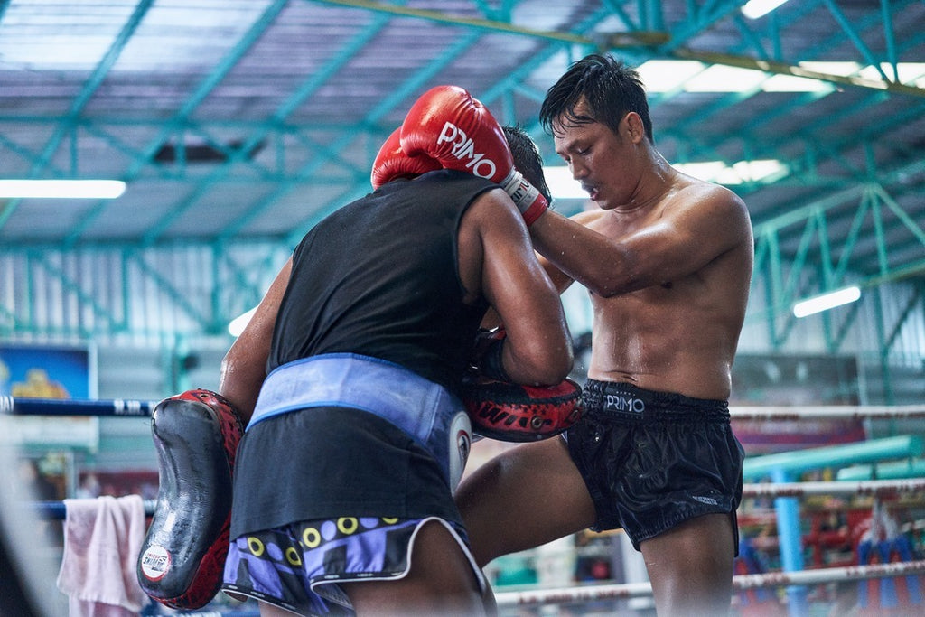 muay thai shorts black