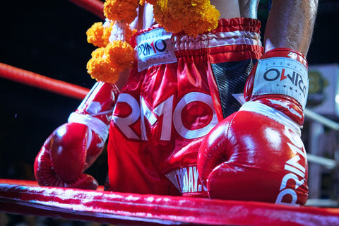muay thai PRIMO shorts and gloves