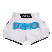Load image into Gallery viewer, Primo Genesis - White Nova Muay Thai Shorts