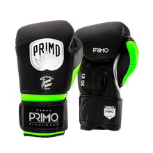 Load image into Gallery viewer, Defender X Series Green Stripe Boxing Gloves