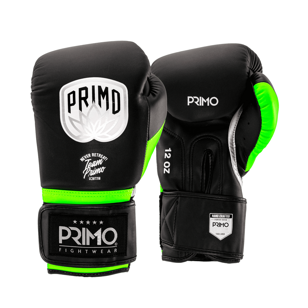 Defender X Series Green Stripe Boxing Gloves