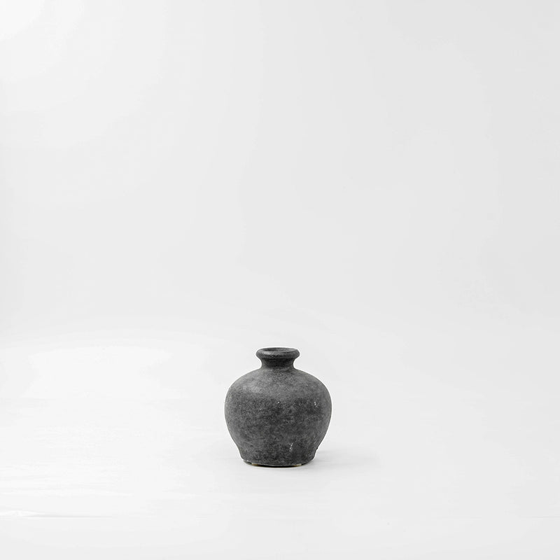 Gun Metal Rustic Mini Vase