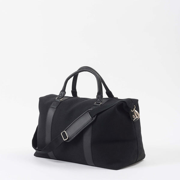 Canvas Weekender Bag w/ Black Handles | Black