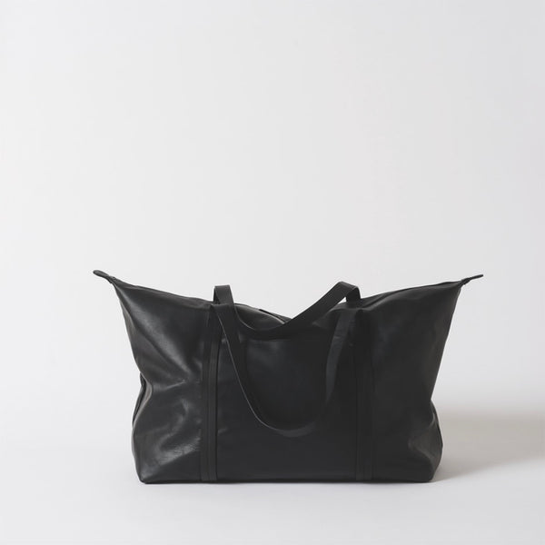 Frank Leather Duffle Bag | Black