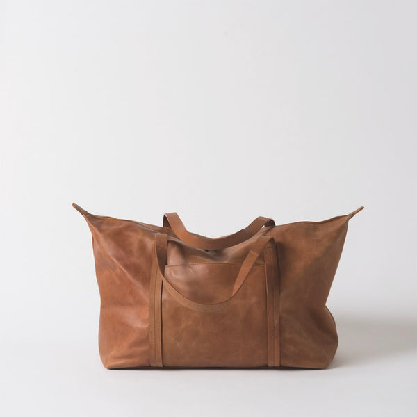 Frank Leather Duffle Bag | Tan
