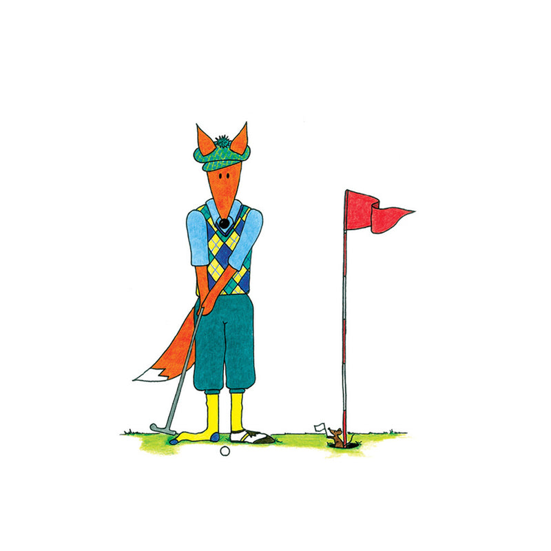 Golfing Fox | Greeting Card