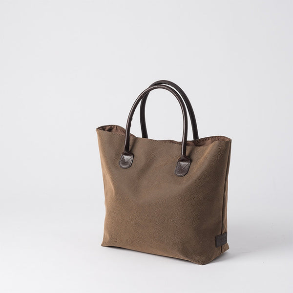 Angola Shopping Bag | w/ Brown Handles