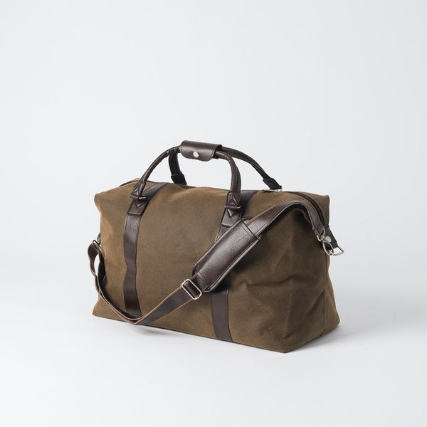 Weekender Bag w/ Brown Handles | Brown