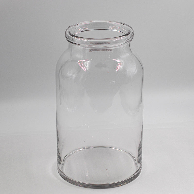 Roll Top Glass Vase | M