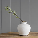 White Rustic Mini Vase