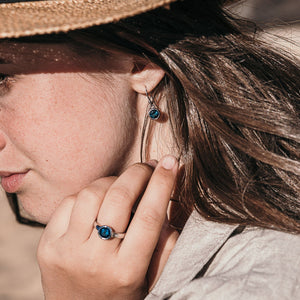Blue Rocks Drop Earrings