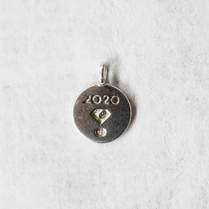 Silver 2020 Charm - Gift with Purchase