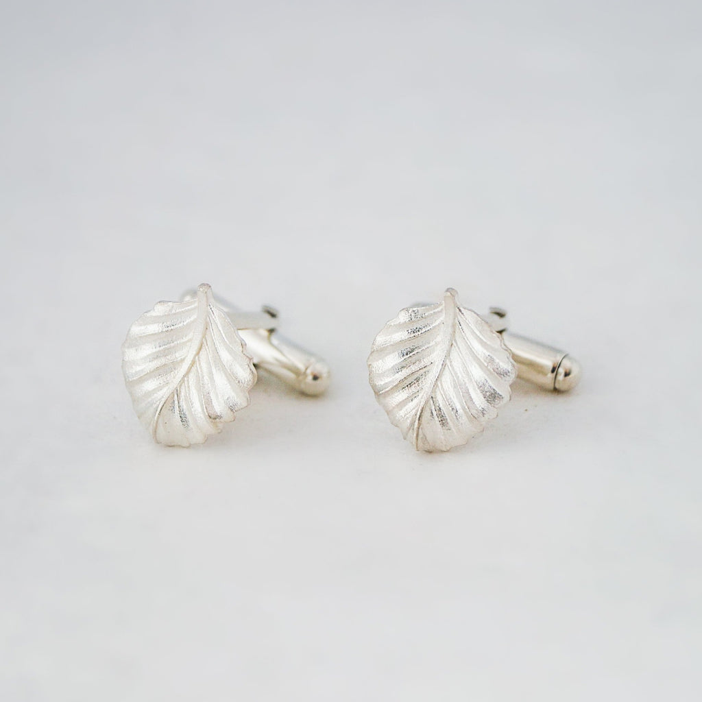 Leaf Cufflinks (Christmas Edition)