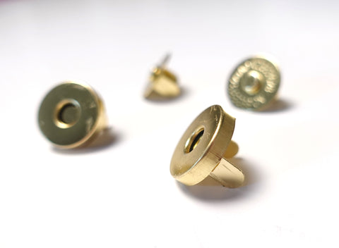 14mm Magnetic Snap Gold Finish Set of 2