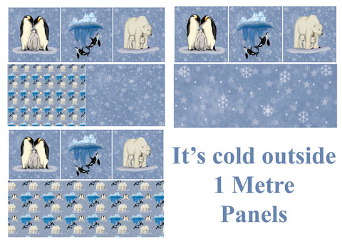 1 Metre Panels Its Cold Outside IN STOCK