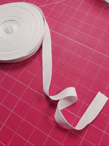Basic thin cotton webbing 3/4 inch wide sold by the 1/2metre