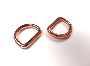 BRAND NEW CHUNKY 20mm D-Rings  Rose Gold Set of 2