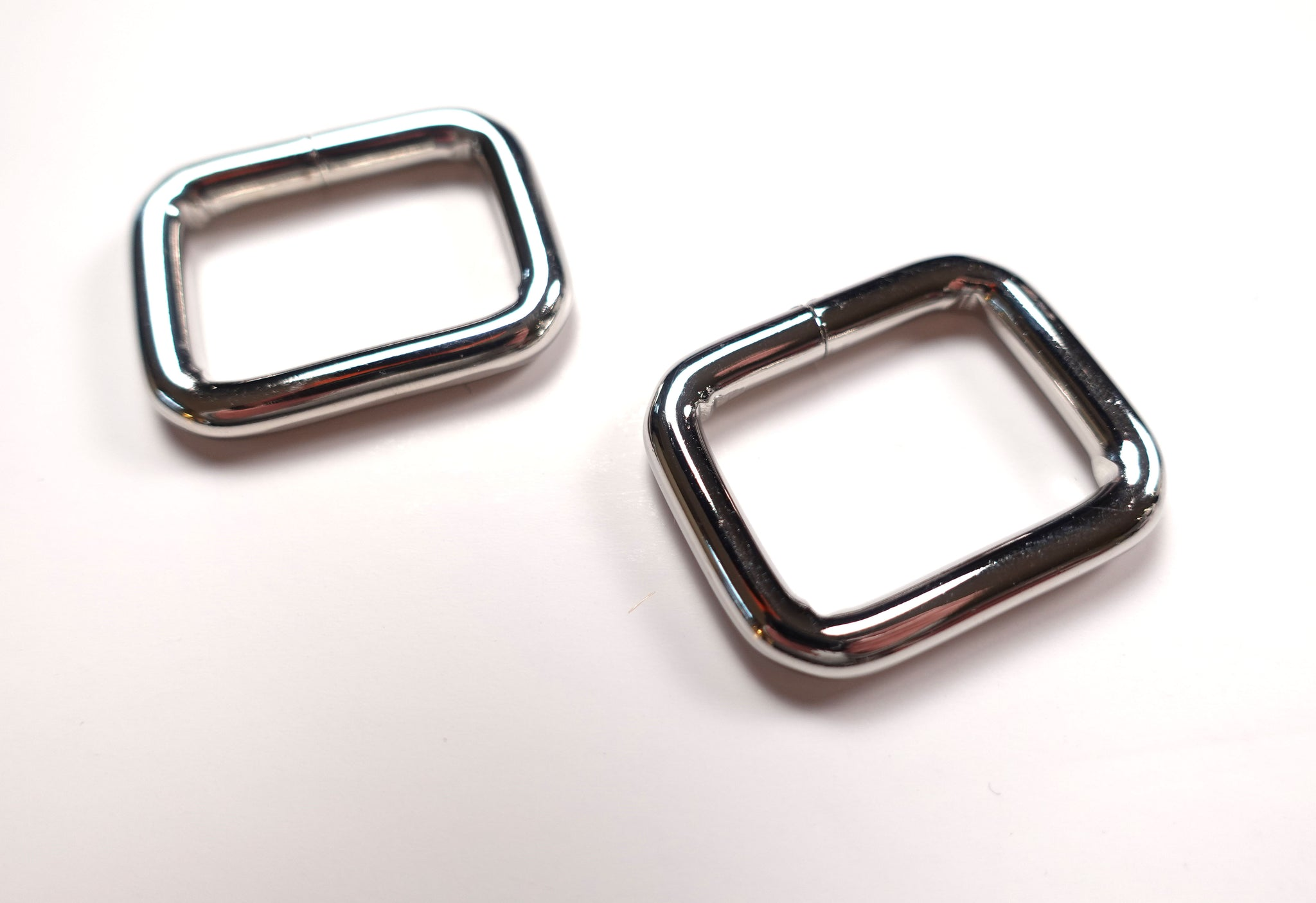 Brand New Super Chunky 1 Inch Rectangular Rings silver Set of 2