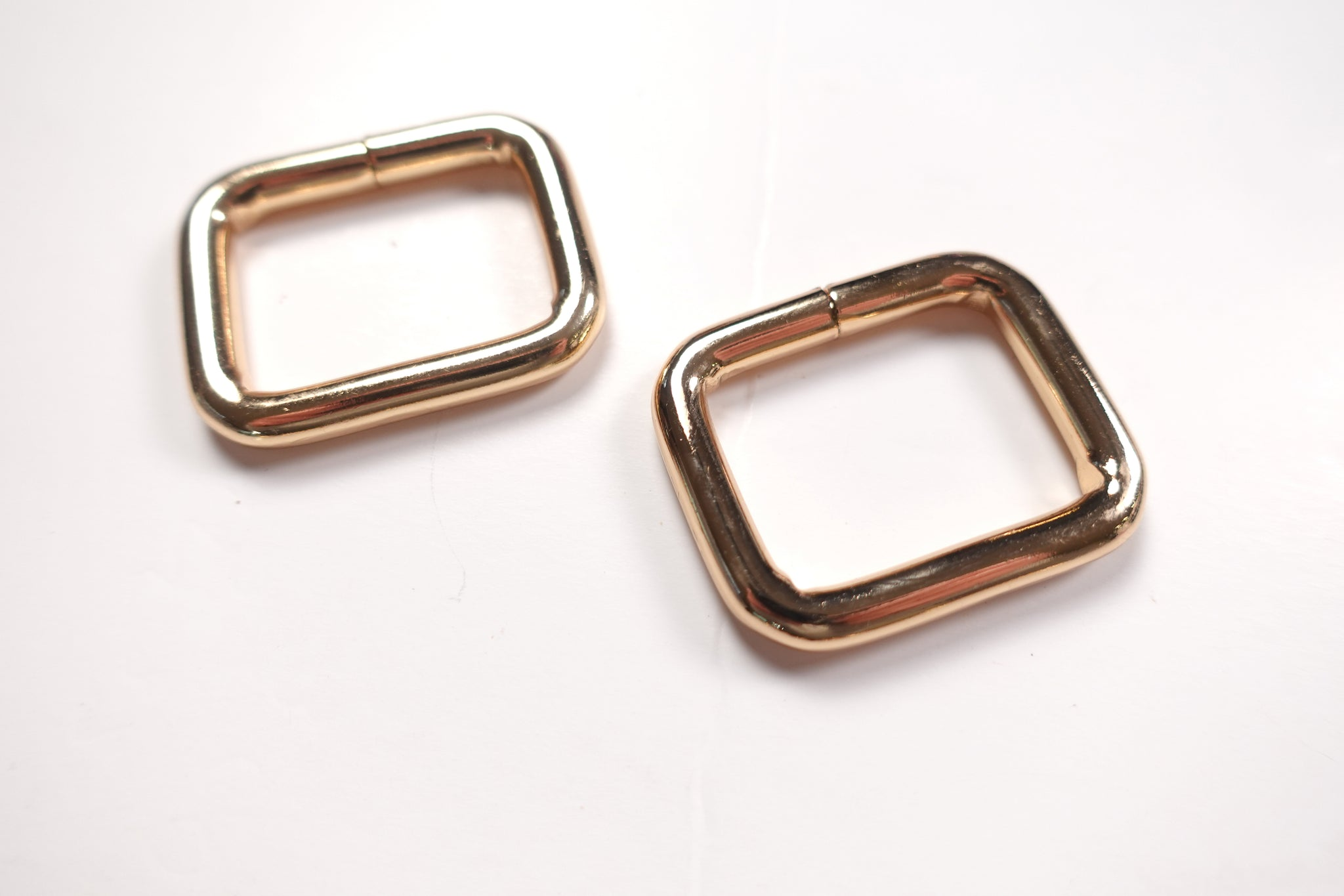 Brand New Super Chunky 1 Inch Rectangular Rings gold Set of 2