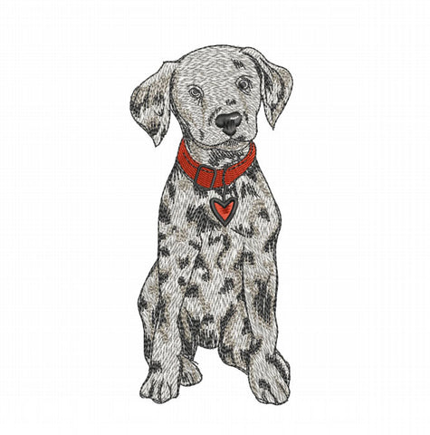 Puppy Dog 6x10 Embroidery Design (5.80inches by 2.62 inches)