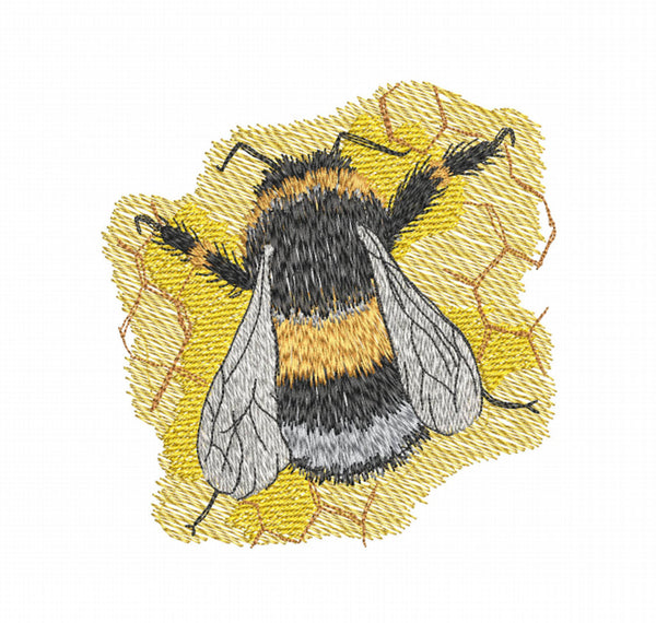 Buzzy Bee 5x5 Embroidery Design (124.8mm x 121.8mm)