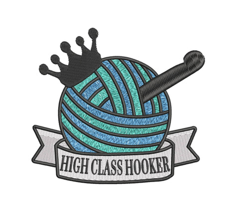 High Class Hooker 7x5 Embroidery Design (112.5 by 124.7mm)