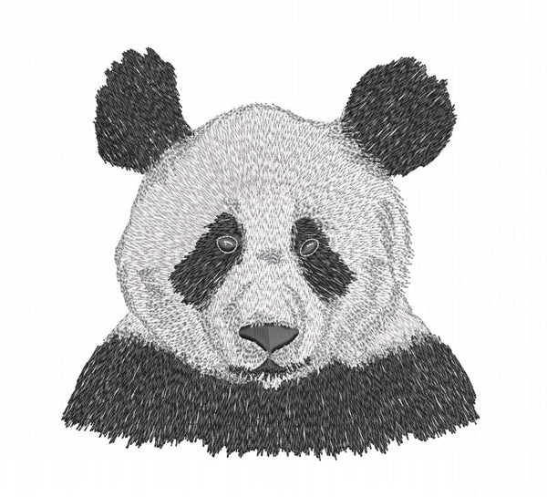 Panda 6x10 Embroidery Design (5.81in by 5.89 in)