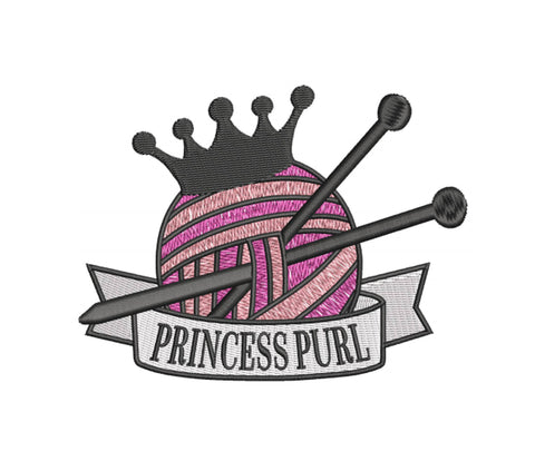 Princess Purl 4x4 Embroidery Design (73.9mm by 97.79mm)