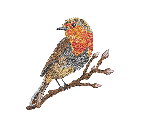 Robin 7 x5 Embroidery Design (123.6mm by 119.4 mm)